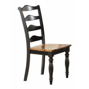 Darby Home Co Wappinger Solid Wood Dining Chair (Set of 2)