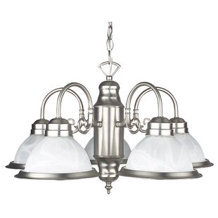 Radionic Hi Tech Ultra 5-Light Shaded Chandelier