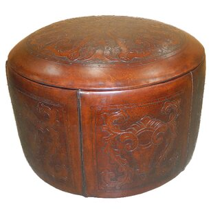 Navarette Leather Pouf by Astoria Grand