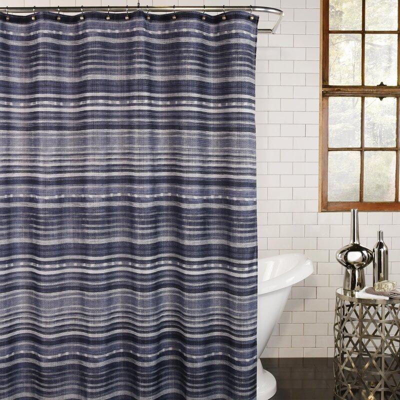 Canora Grey Marylou Striped Single Shower Curtain Reviews Wayfair