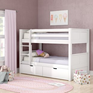 Isabelle Twin Over Twin Bunk Bed With Storage by Viv + Rae 2019 Sale