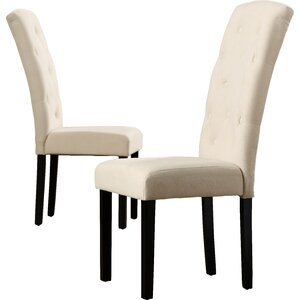 Oshiro Tufted Parsons Chair (Set of 2)