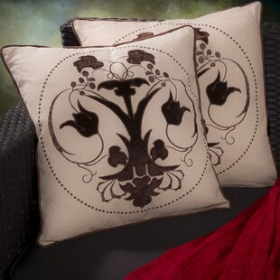 Teneyck Embroidered Throw Pillow (Set of 2)