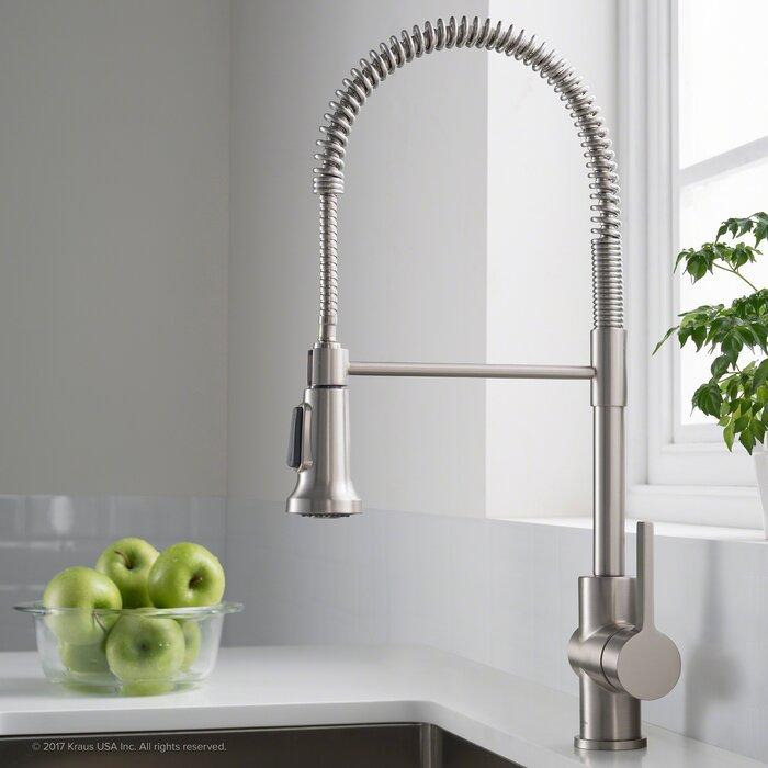 Britt Commercial Single Handle Kitchen Faucet