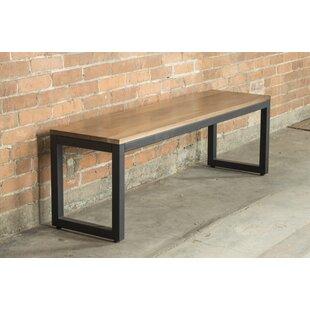 Elan Furniture Loft Metal and Wood Bench