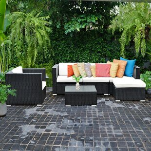 Tori 6 Piece Rattan Sofa Seating Group with Cushions by Orren Ellis