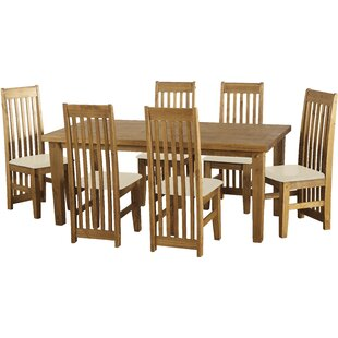 Agade Dining Set With 6 Chairs By Natur Pur