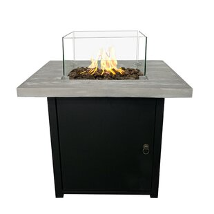 Living Source International Palmas Steel Propane Fire Pit Table