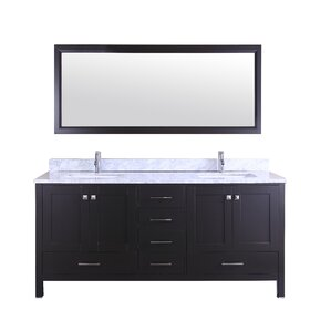 Arnab Transitional 60  Double Bathroom Vanity Set Vanities Joss Main