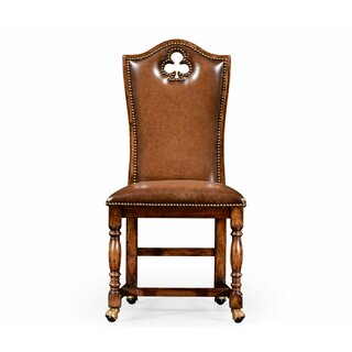 "High Back Playing Card ""Club"" Upholstered Dining Chair (Set of 2) by Jonathan Charles Fine Furniture SKU:CD749532 Purchase"