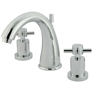 Elements of Design South Beach Double Cross Handle Widespread Bathroom Faucet