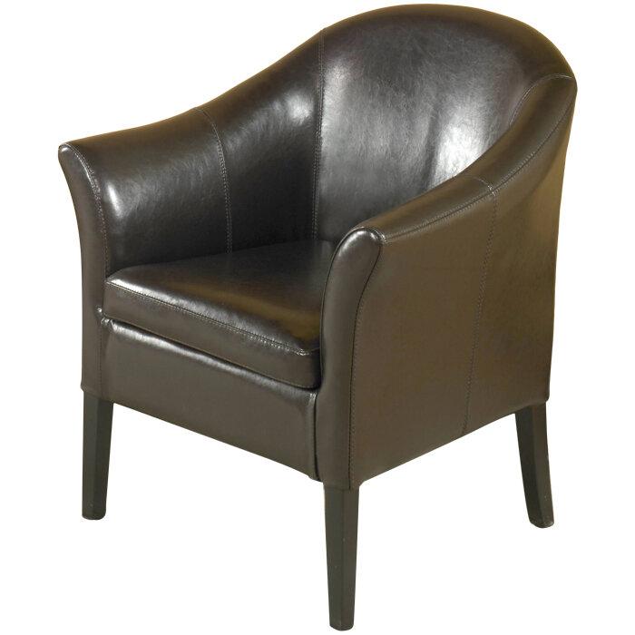 red barrel studio leola leather barrel chair reviews wayfair