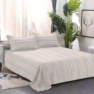 Mitcham Flannel Striped 100% Cotton Sheet Set