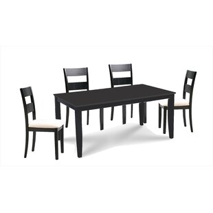 Almeida 5 Piece Extendable Solid Wood Dining Set Charlton Home