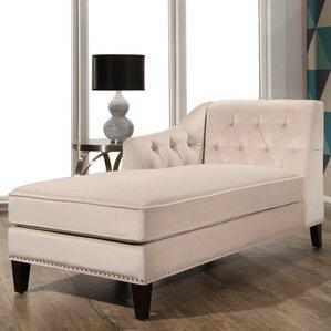 Macdonald Velvet Chaise Lounge  sc 1 st  Birch Lane : velvet chaise - Sectionals, Sofas & Couches