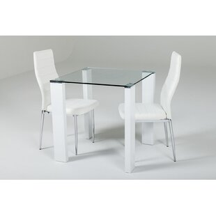 Gorney Dining Set With 2 Chairs By Brayden Studio