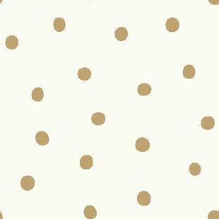 Gold Polka Dot Wallpaper