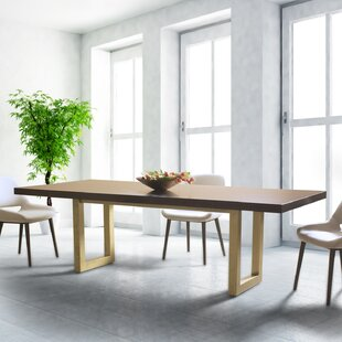 Cisbrough Burnished Extendable Solid Wood Dining Table Corrigan Studio