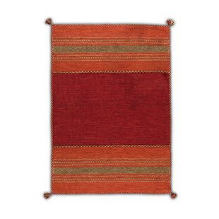Ayanna Flatwoven Cotton Red/Orange Rug by Latitude Vive