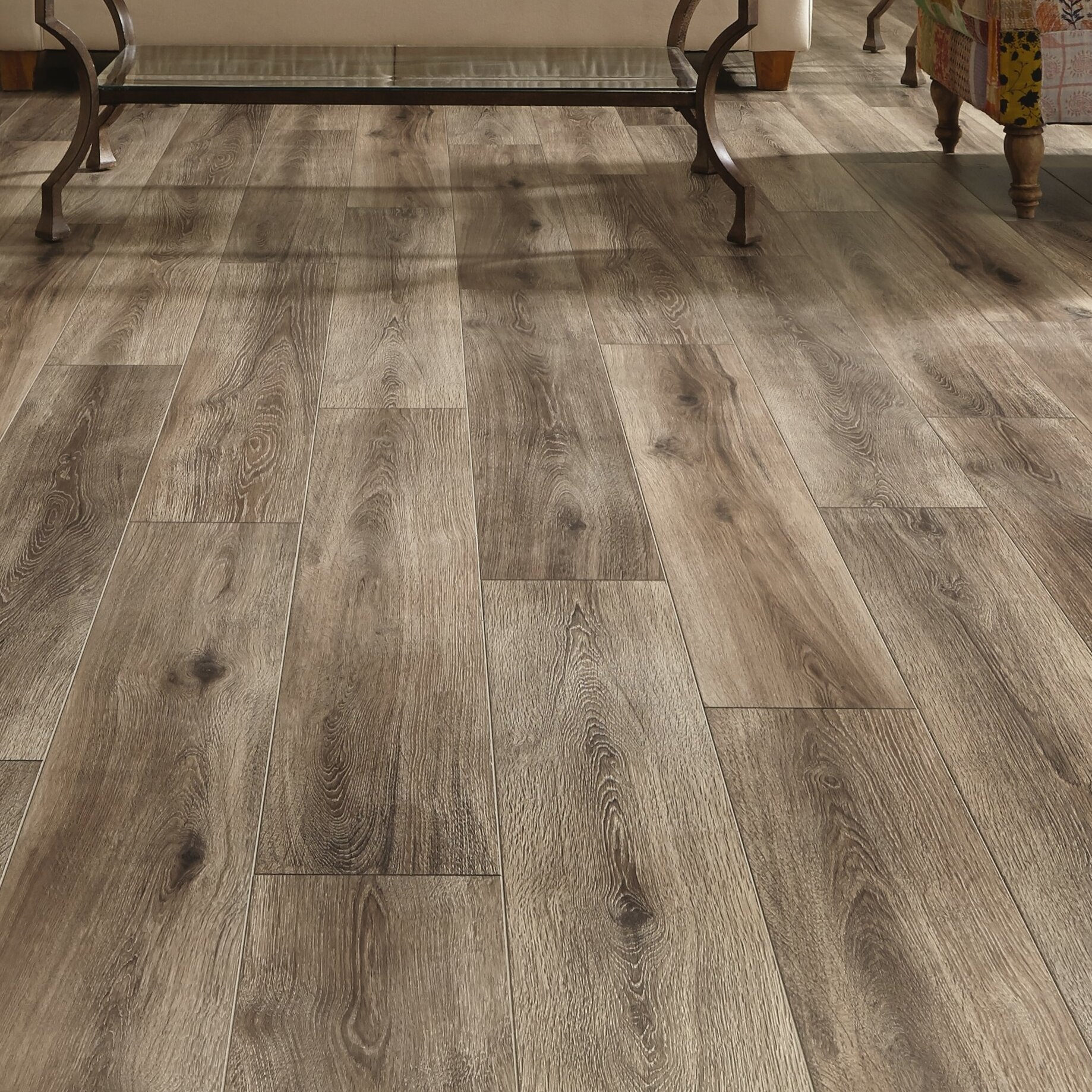 Mannington Restoration Wide Plank 8'' x 51'' x 12mm Laminate Flooring in Brushed Gray | Wayfair