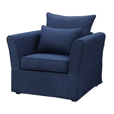 Azucena Armchair Upholstery Color: Nautical Blue by Beachcrest Home