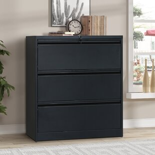 Rebrilliant Diaz 3 Drawer Lateral Filing Cabinet
