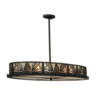 Meyda Tiffany Greenbriar Oak 8-Light Pendant