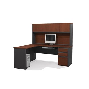 Kenworthy Reversible L-Shape Executive Desk With Hutch by Ebern Designs Best
