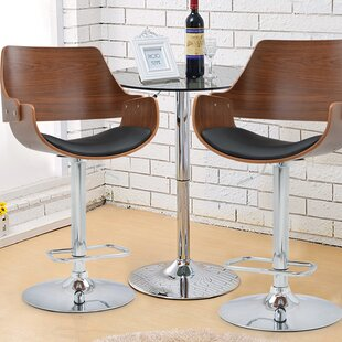 Alouette Bent Wood Swivel Bar Stool by Corrigan Studio Cool