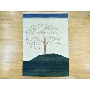 Top One-of-a-Kind Becker Folk Art Hand-Knotted Wool Area Rug By Isabelline