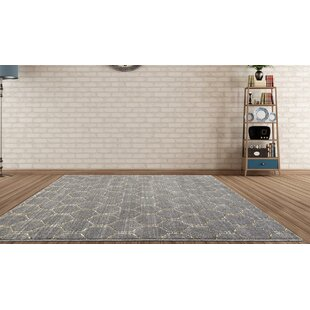 Dossantos Geometric Gray Stain Resistant Indoor/Outdoor Area Rug