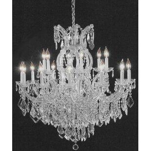 Alvarado 16-Light Silver Empress Candle Style Chandelier by Astoria Grand