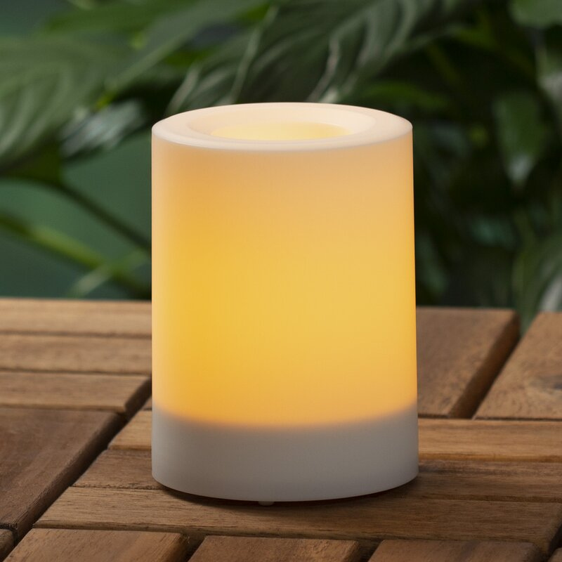 Ebern Designs Pillar Unscented Flameless Candle Reviews Wayfair