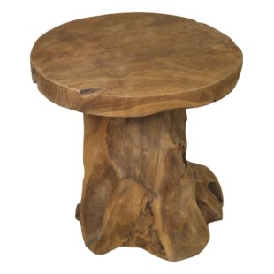 Yellow Pine Root Teak Decorative Stool By Union Rustic