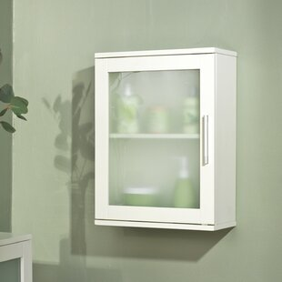 Adlington Frosted Pane 15.75 W x 21 H Wall Mounted Cabinet by The Twillery Co.