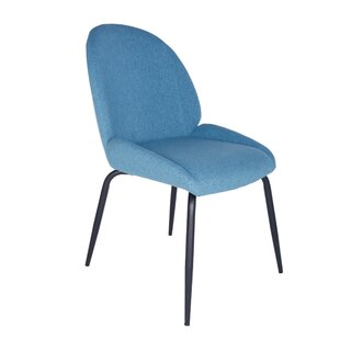 Oday Upholstered Dining Chair with Steel ..