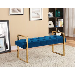 Celis Button-Tufted Upholstered Bench by Mercer41