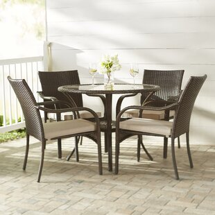 Darby Home Co Darden 5 Piece Dining Set with Cushions