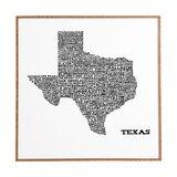 Map Of Texas Wall Art Wayfair