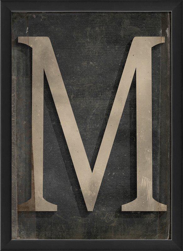 Letter M Framed Textual Art