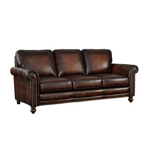 Shop Cecília Leather Sofa by Darby Home Co