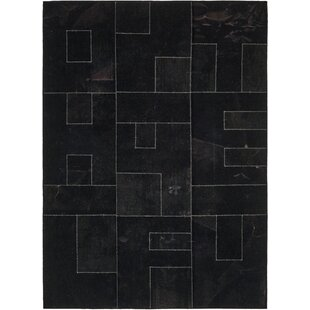 Price comparison One-of-a-Kind Minchinhampton Hand-Knotted 7'3 x 10' Wool Black Area Rug By Isabelline