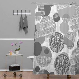 Rachael Taylor Textured Geo Shower Curtain
