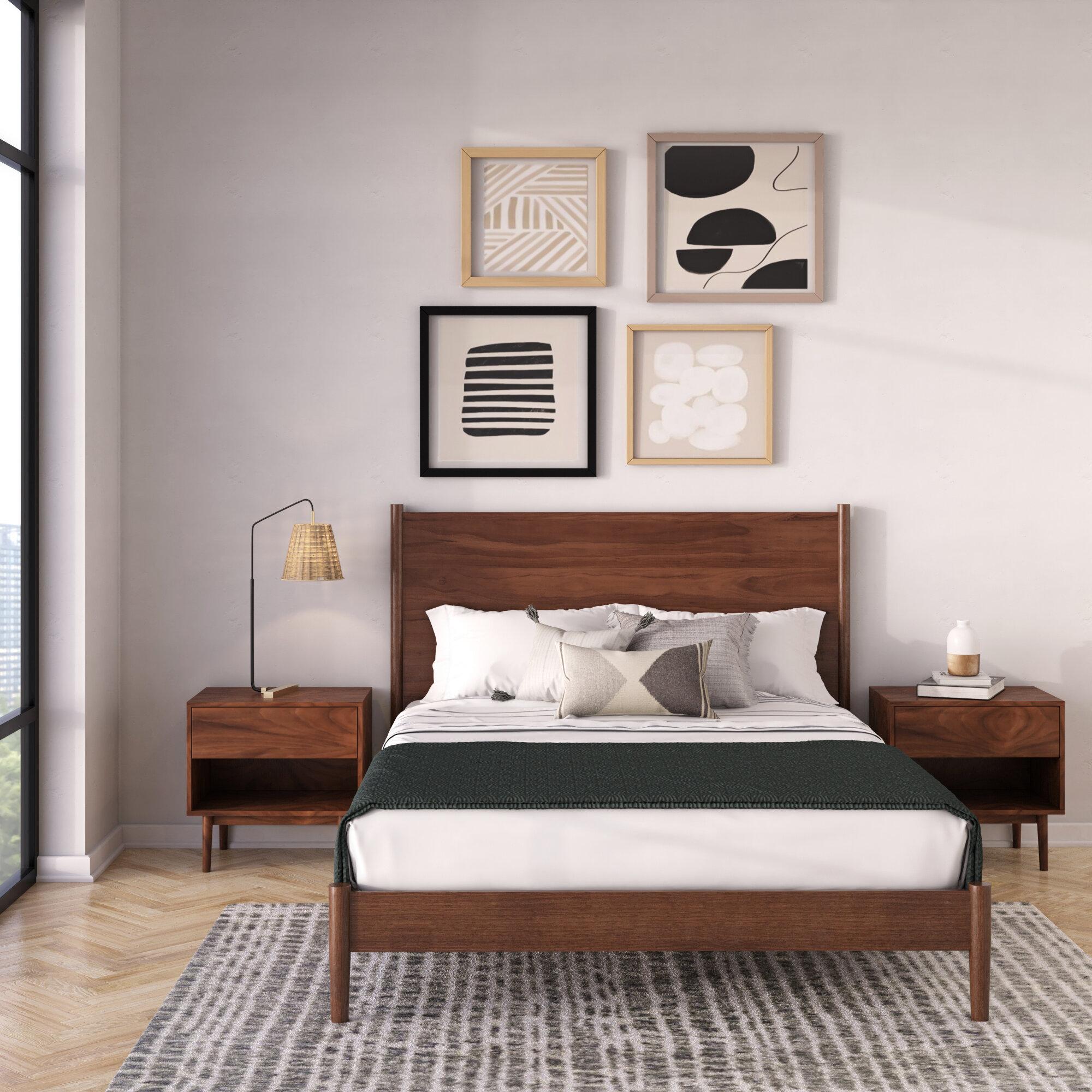 Grandy Solid Wood Platform 3 Piece Bedroom Set Reviews Allmodern
