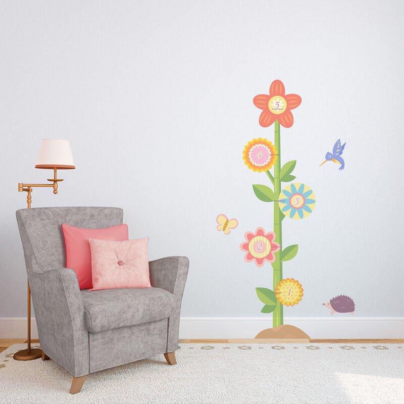 Wallums Wall Decor Flower Growth Chart Printed Wall Decal Wayfair