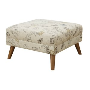 Hoeft Print Cocktail Ottoman with Cushion by..