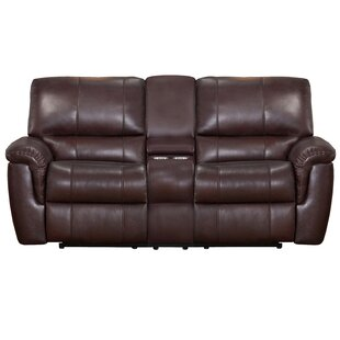 Deverell Leather Reclining Loveseat World Menagerie