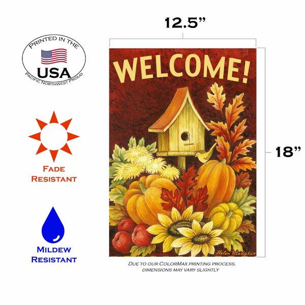 Garden Flag Toland Home Garden 1112298 Birdy Branches 12.5 x 18 Inch Decorative 12.5 x 18