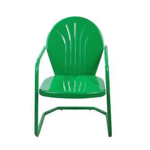 Korando Outdoor Metal Tulip Patio Chair