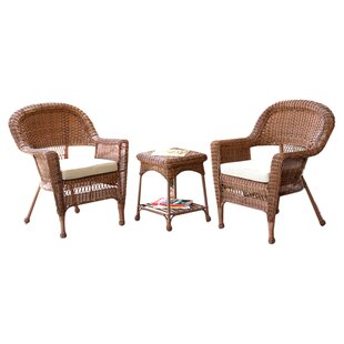 Sanibel 3 Piece Bistro Set with Cushion b..
